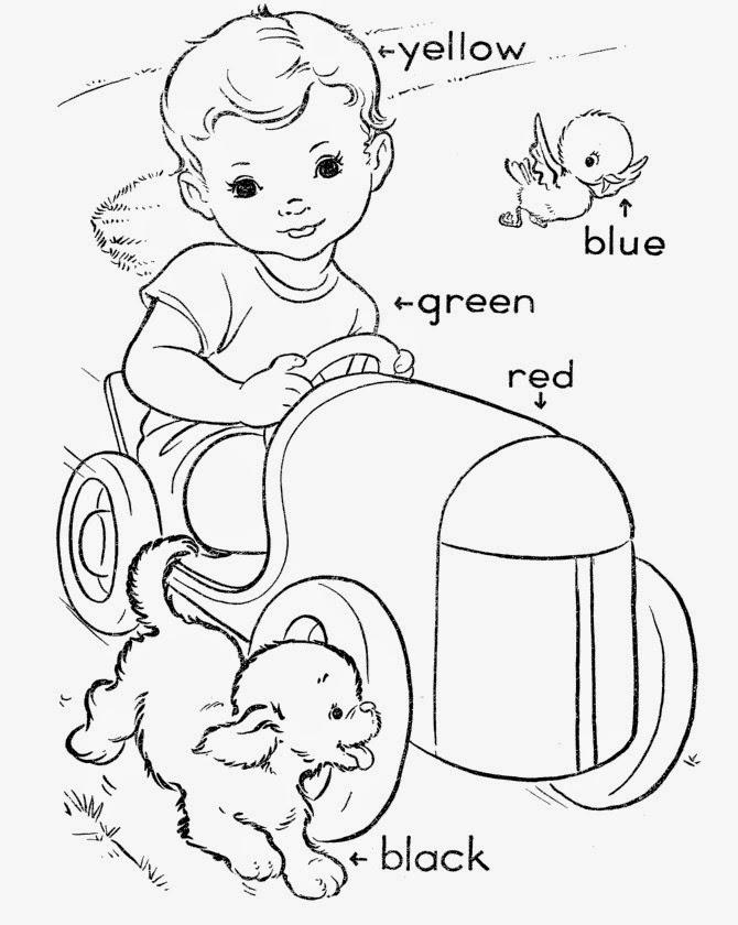 2 Sınıf Ingilizce Colors Renkler Konusu Boyama Etkinliklikleri