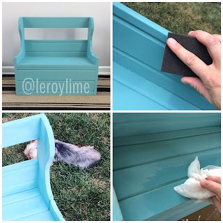 Bench Makeover : Before & After - LeroyLime