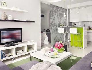 Ruang Tamu Deco Rumah Flat 2 Bilik Inspirasi Dekorasi Rumah