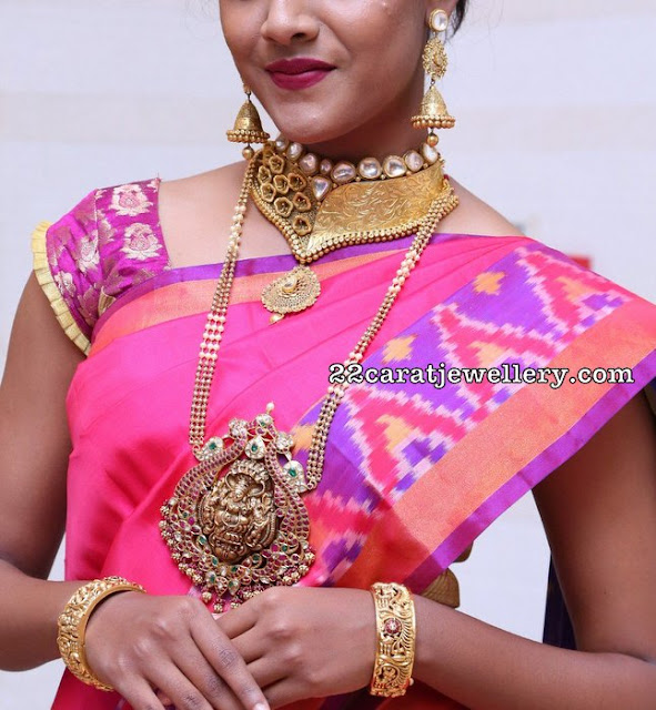 Jessica in Lakshmi Pendant Antique Choker