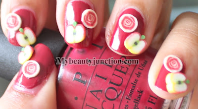 OPI From A To Zurich swatch and Fimo nail art