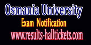 Osmania University B.Ed 2nd Sem & B.Ed Distance Edu Mode-Postponed Exam Notification