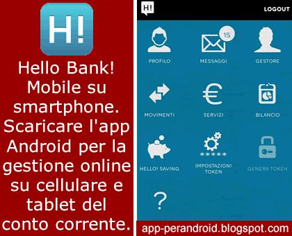 applicazione hello bank