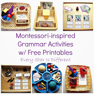 Montessori-inspired Grammar Activities with free printables