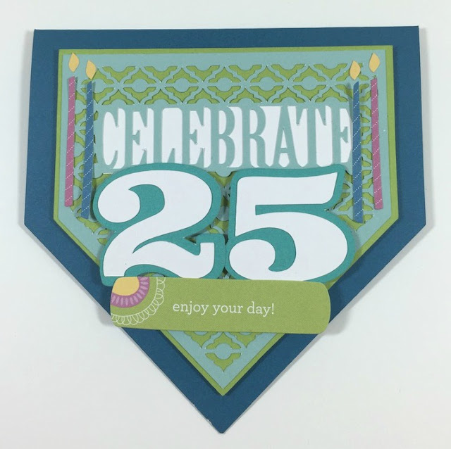 Cricut 25th Birthday Card