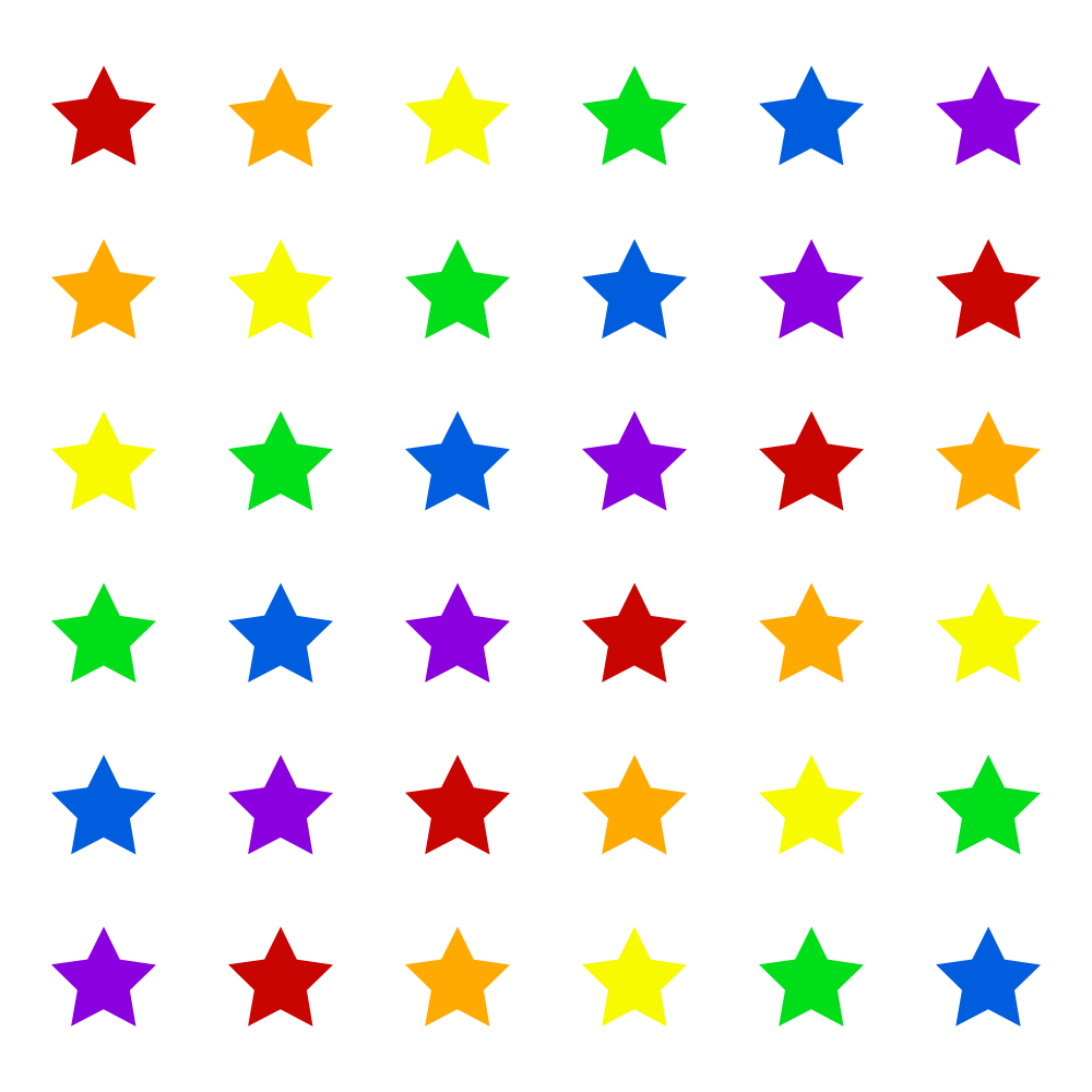 Multi-colored Stars Graphic