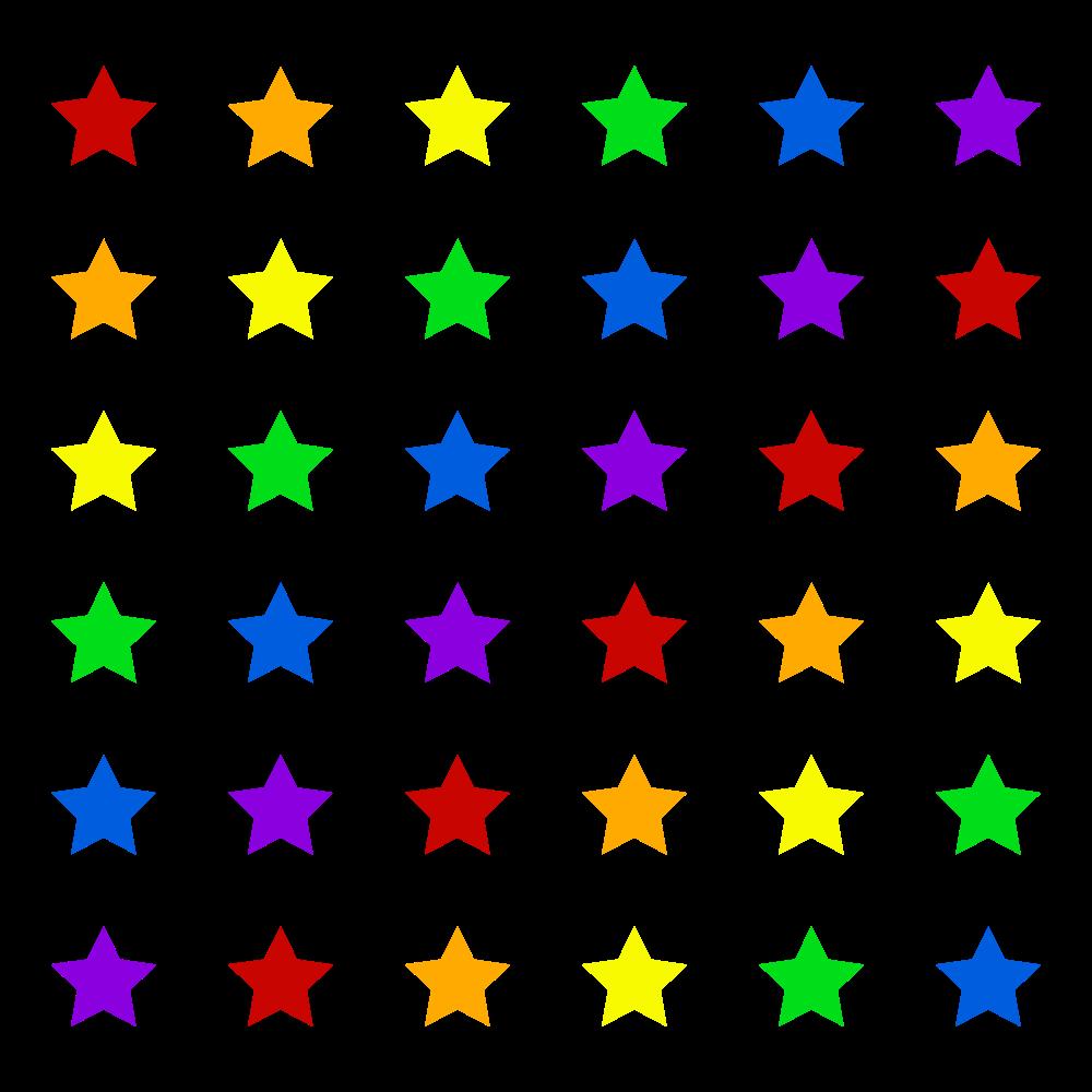 Multi-colored Stars Graphic