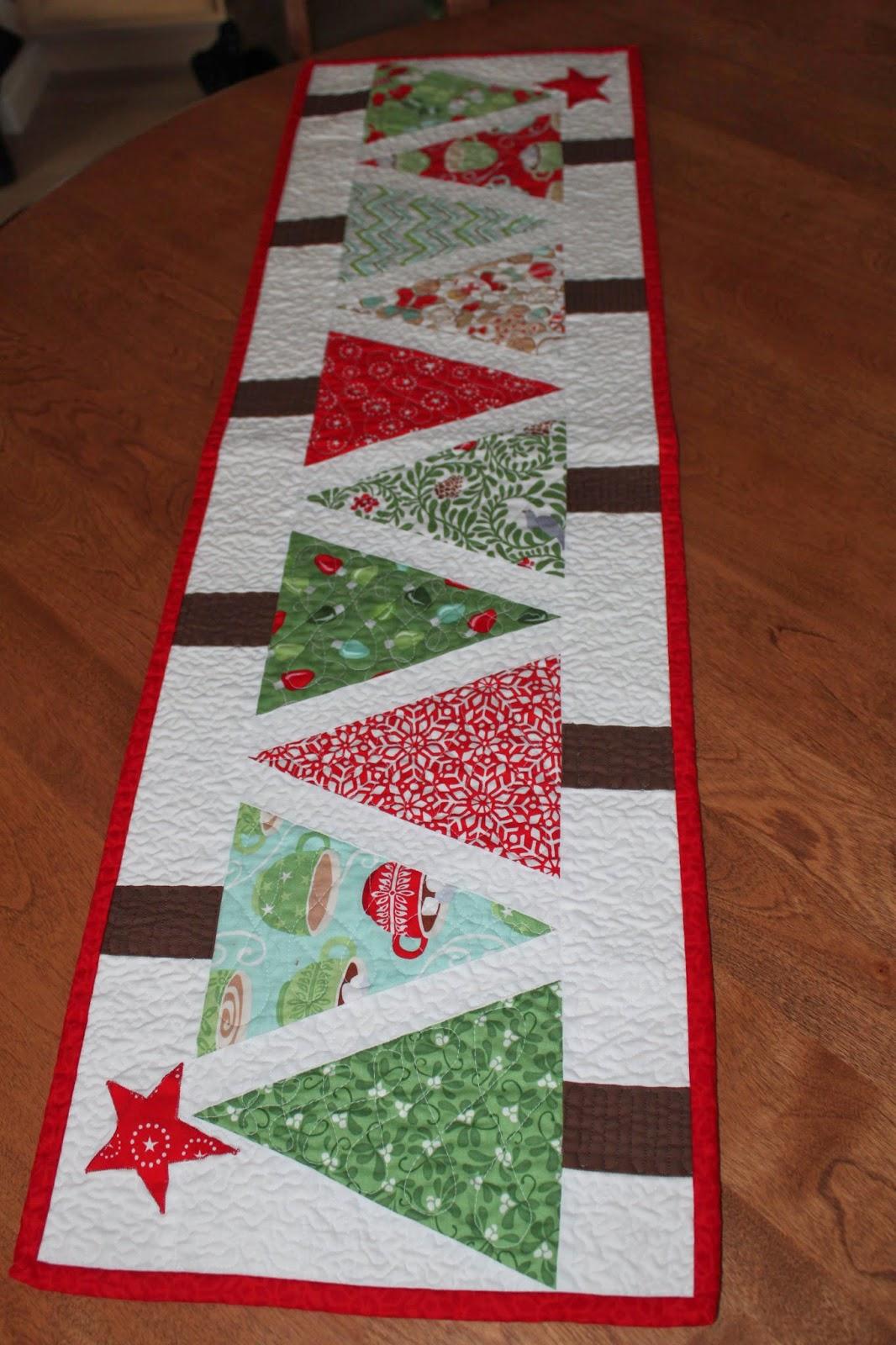Sea Salt Quilts Christmas Table Runner