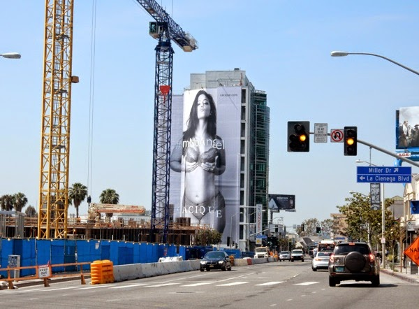 Lane Bryant Cacique lingerie Im no angel billboard Sunset Strip