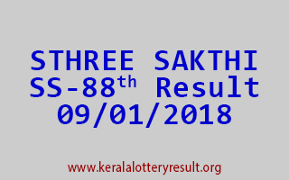 STHREE SAKTHI Lottery SS 88 Results 9-1-2018