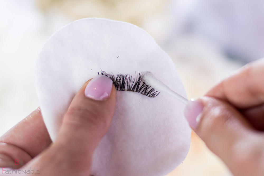 False Lashes Guide Wimper reinigen