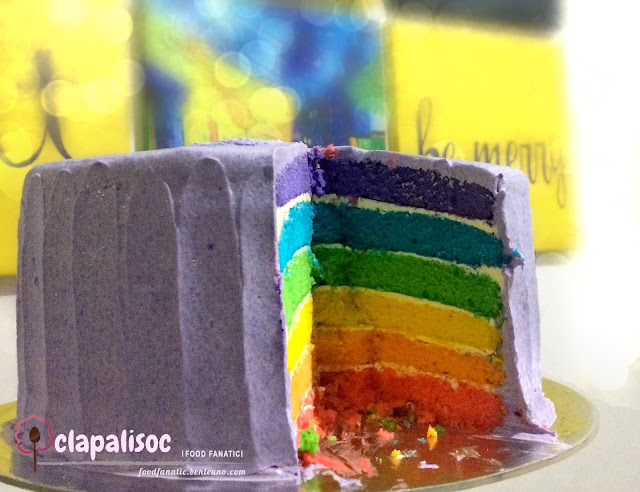 Rainbow cake from Family Favorites Kitchen