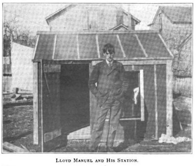 Lloyd Manuel and his hen house ham shack
