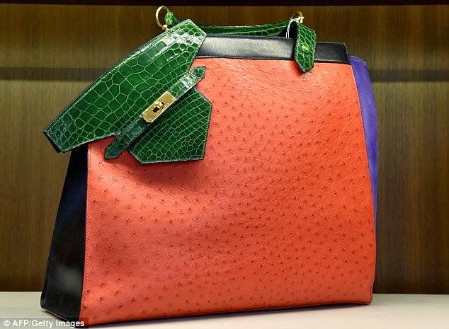 231c758c5a8 Valued handbag: This extremely rare Hermes bag in alligator and ostrich  with the house's Himalayan moniker has fetched a starting bid of $15,000  and will be ...