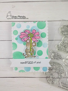 Mice of You a card by Diane Morales| Garden Mice Stamp Set by Newtons Nook Deisgns