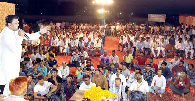 mla lalit nagar address party workers at sehatpur in tigaon constituency
