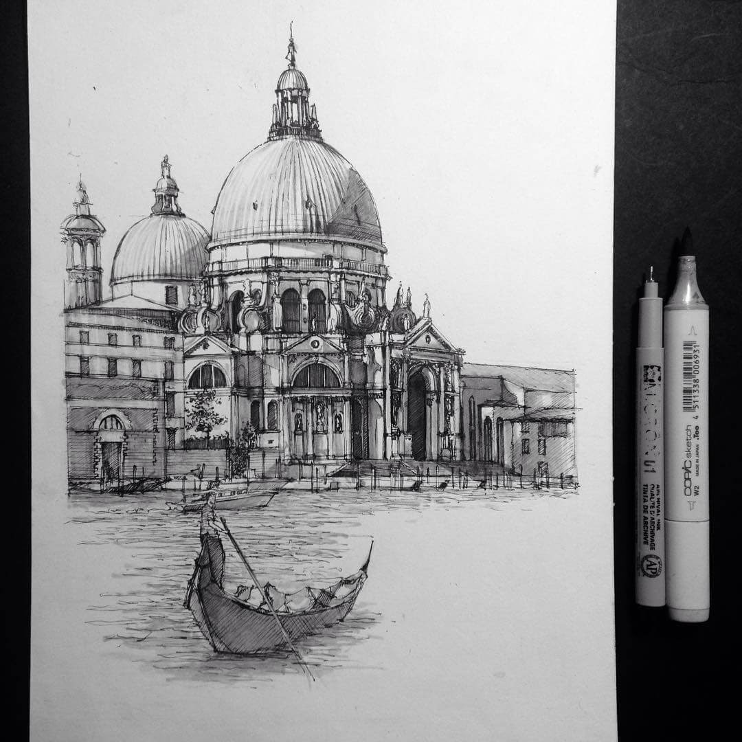03-Gondola-Ride-HAO-Sketches-Fineliners-Urban-Architectural-www-designstack-co