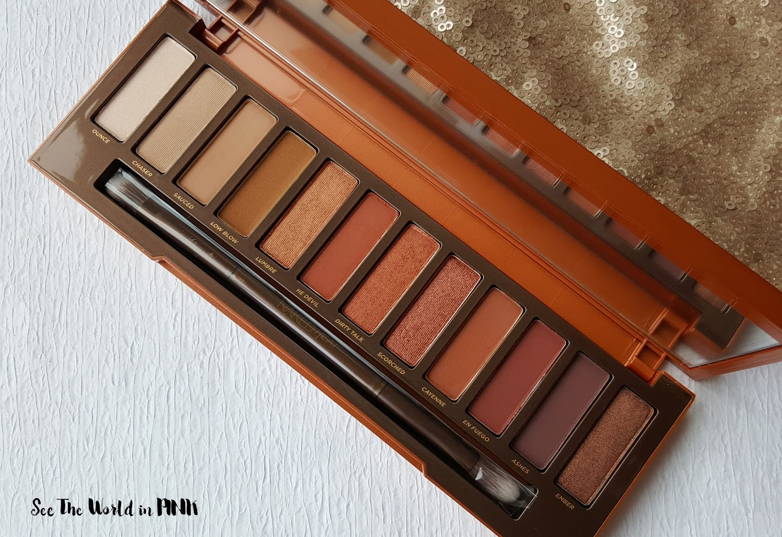 Urban Decay Naked Heat Palette - Swatches, Makeup Look, and Review!