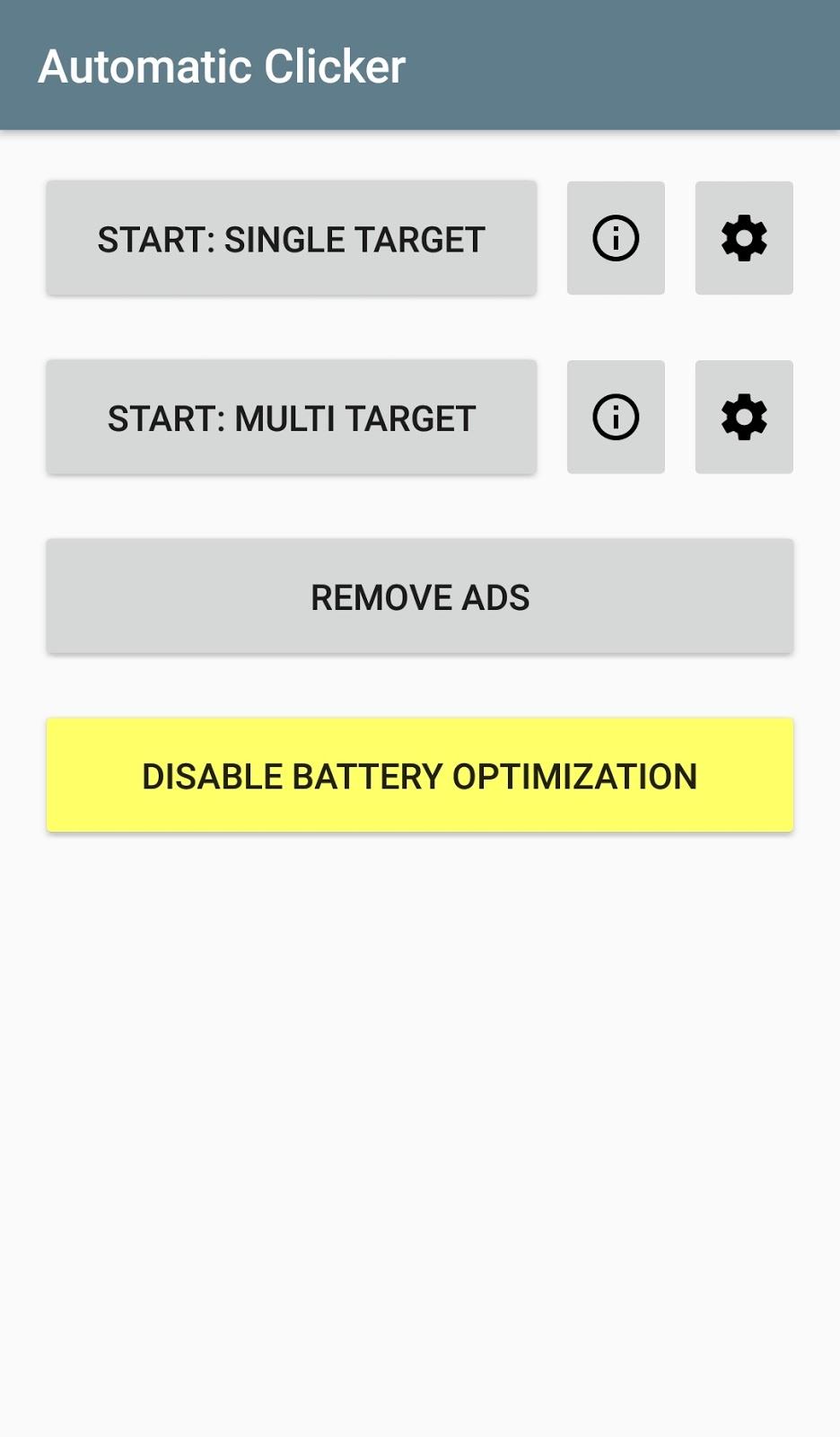 Thiết lập ứng dụng tự động click Android