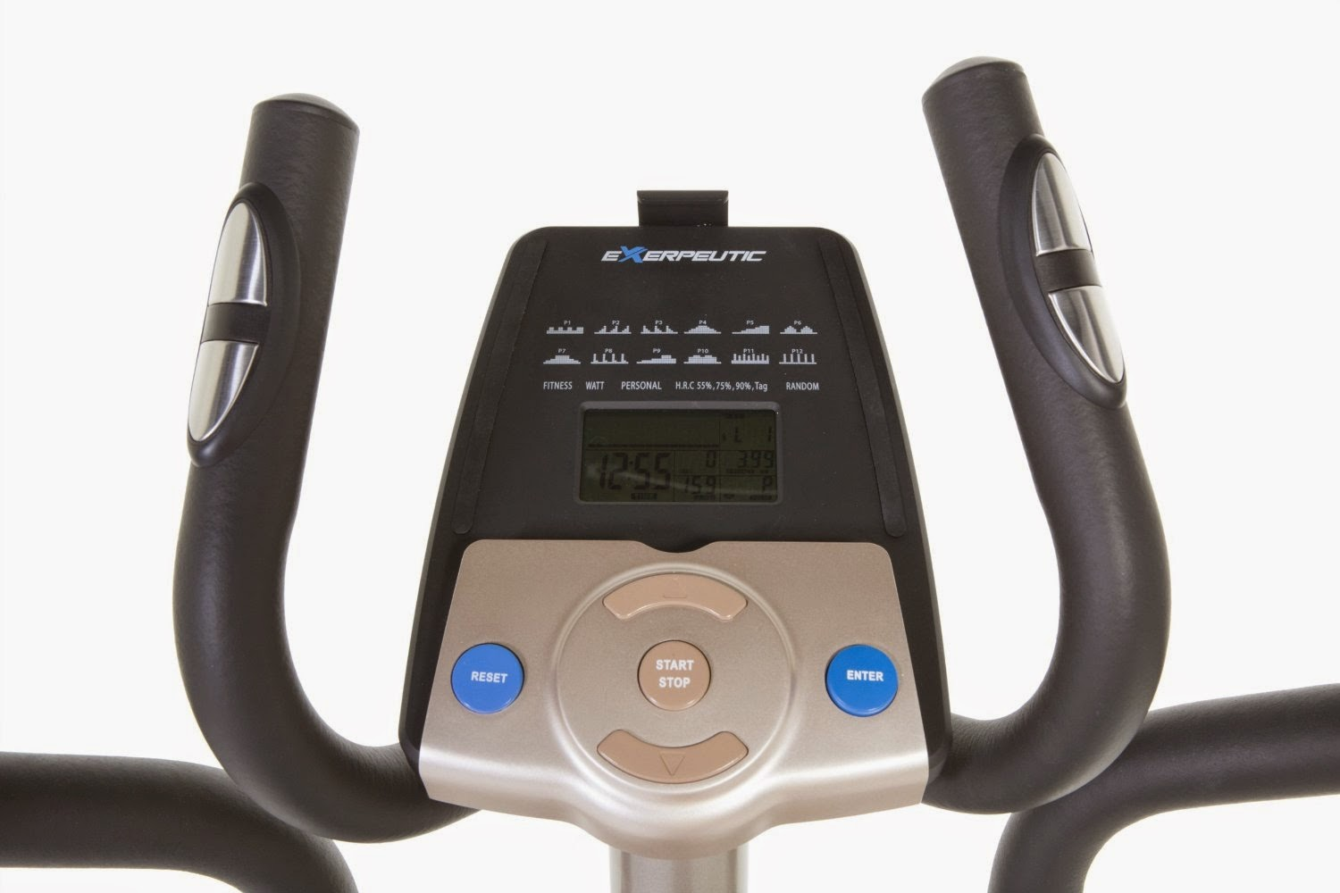 Exerpeutic 5000 Elliptical Trainer Console with control buttons, compare with Exerpeutic 4000