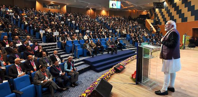Prime Minister Narendra Modi meets collectors of aspiring districts