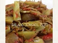 Resep masakan Balado Jengkol dicampur Teri super Enak