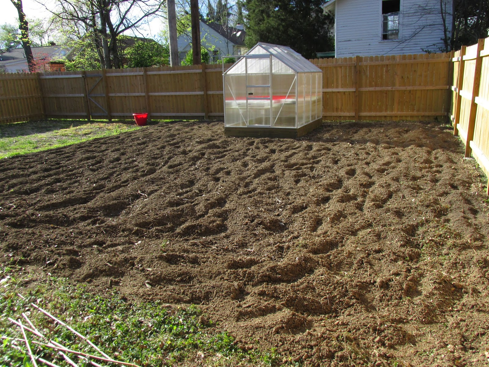 Kentucky Fried Garden: Garden Tilled and a Greenhouse