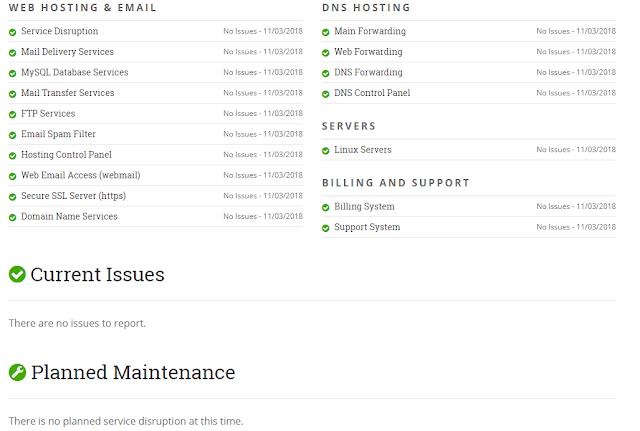Hostpapa Network Status