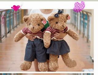 Boneka beruang love 11