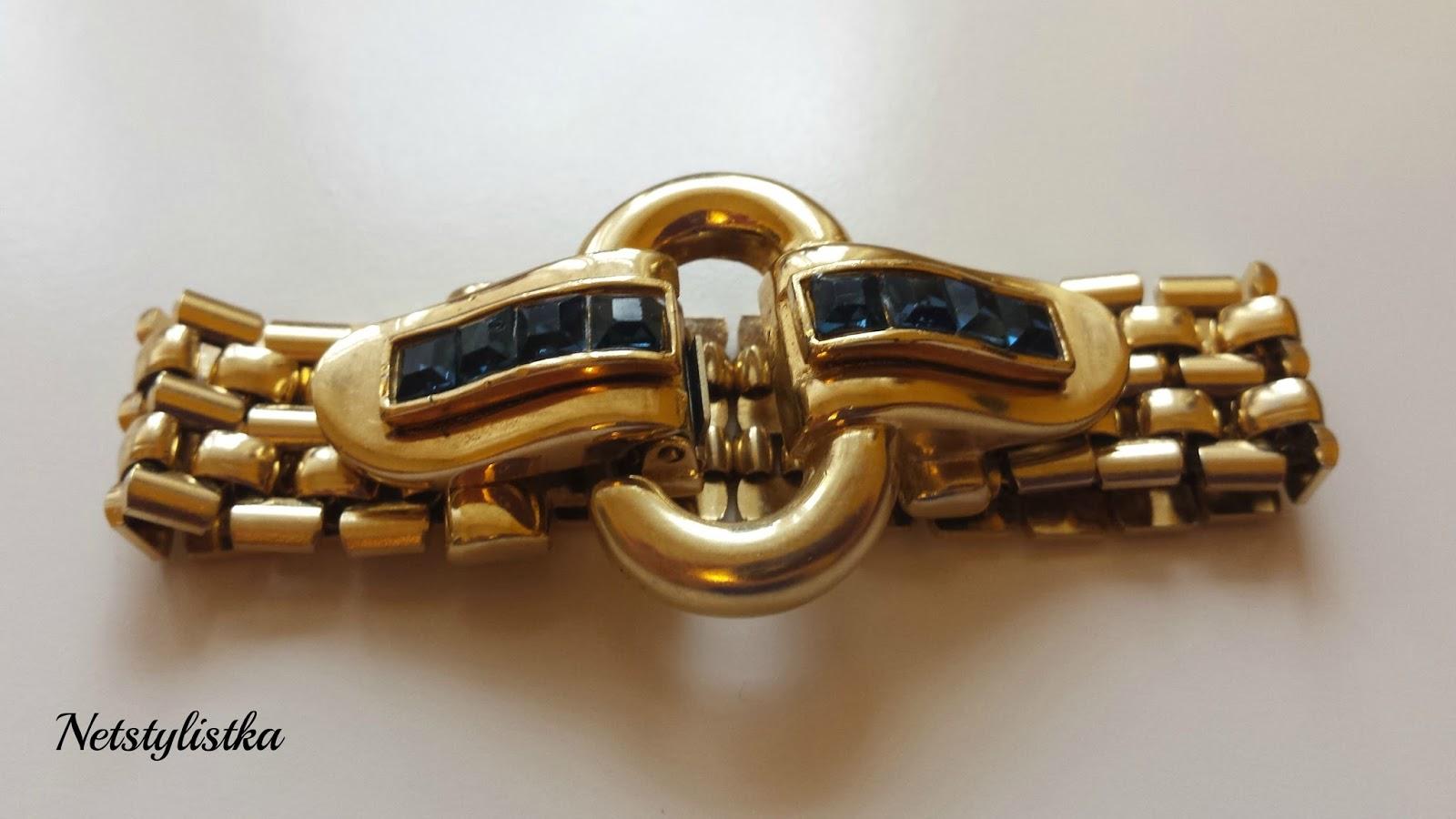 vintage bransoletka Givenchy sygnowana