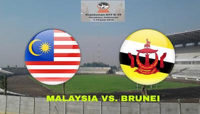 Live Streaming Malaysia vs Brunei Kejohanan AFF B-19 6.7.2018