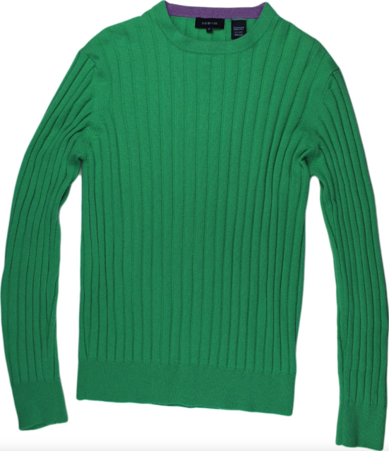 David Chu Green Cashmere Sweater
