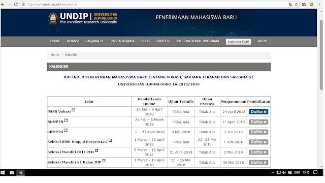 Info Penerimaan Mahasiswa Baru UNDIP