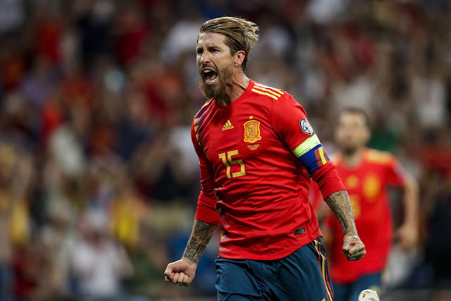 Central defender Sergio Ramos still had a reason to celebrate him from touching a historic landmark.