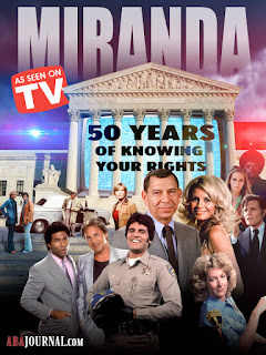 collage showing TV police officers, from Dragnet, CHiPs, Miami Vice, and other shows