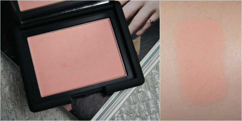 nars sex appeal powder blush review swatch soft peach matte finish subtle brightening perfect pale skin