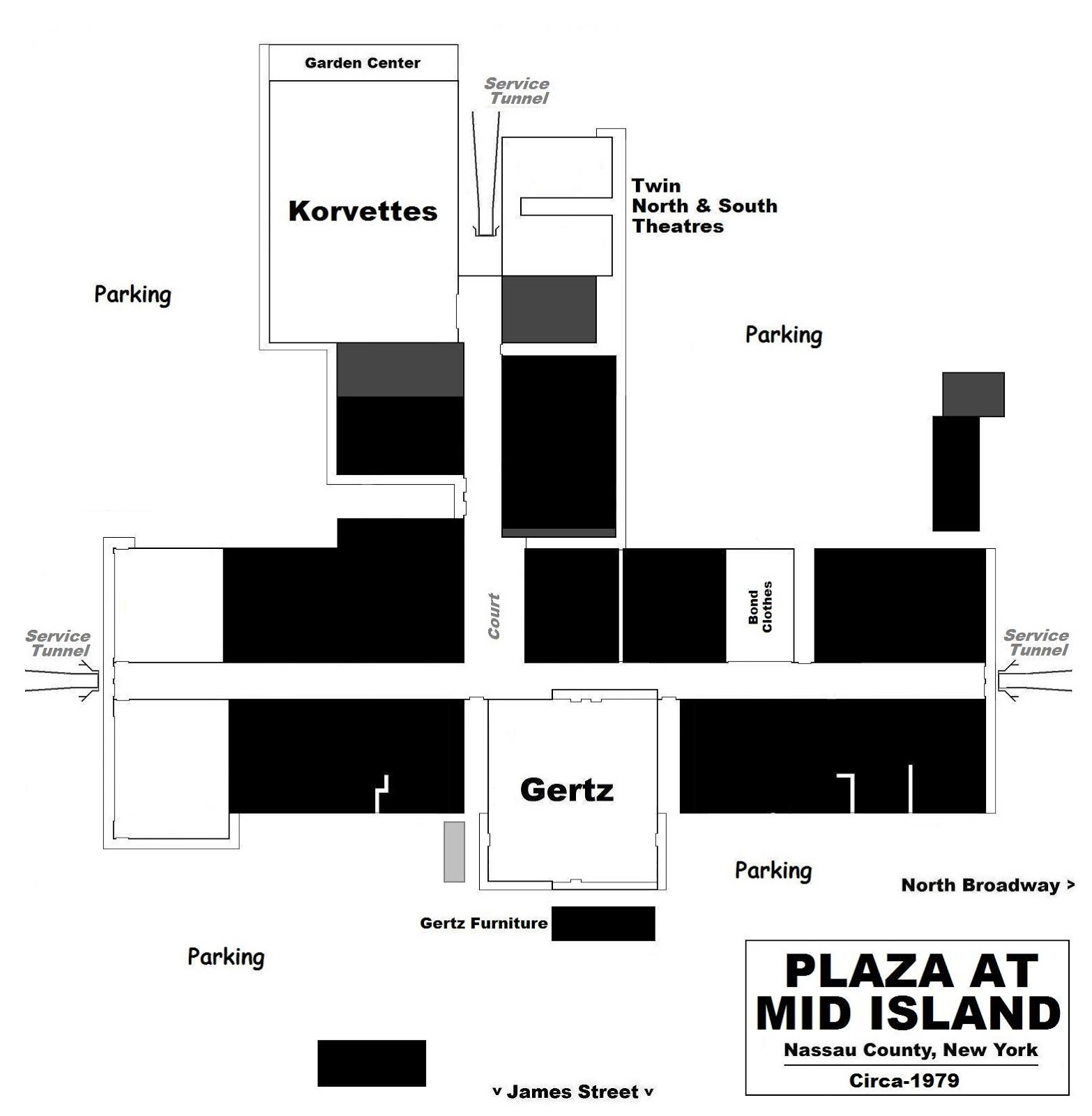 A Site Plan From The Same Time. The Twin North U0026 South Theatres Had Been  Added In The Mid 1960s. As Mentioned Above, The Mall Was Enclosed In 1969.