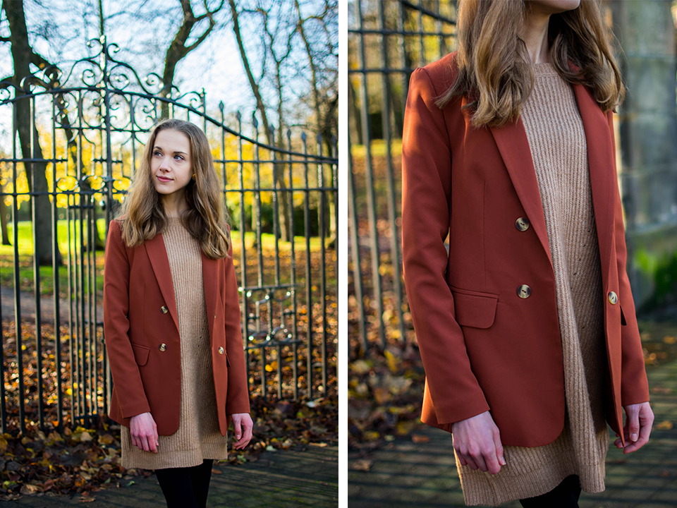 how-to-wear-rust-blazer