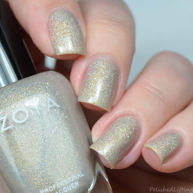 champagne holographic nail polish