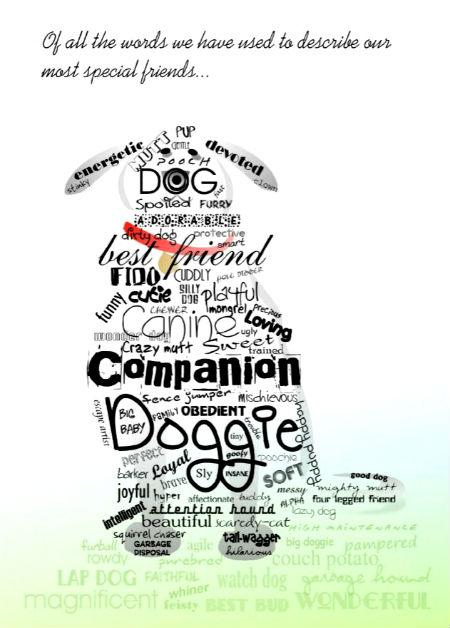 customize a dog sympathy card, of all the words we use to describe our dogs