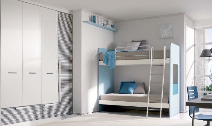 Quartos infantis e juvenis em branco decora o e ideias - Habitaciones con literas para ninos ...