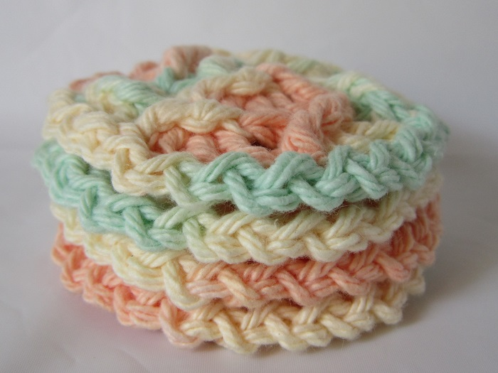 Crochet Is The Way Diagonal Textured Face Scrubby