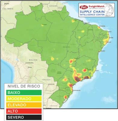 Mapa de Risco em Roubo de Cargas