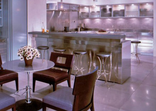 Home And Garden Design: Purple Color For Kitchen Decor