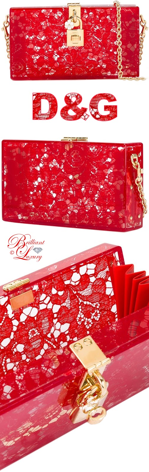Brilliant Luxury ♦ Dolce & Gabbana Dolce Box Clutch