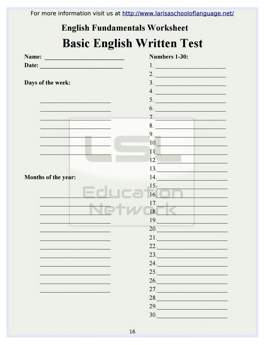 101 Worksheets For English Grammar Lessons