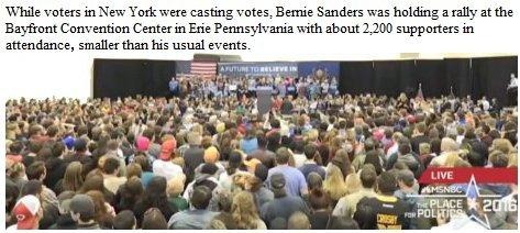 Bernie Sanders rally Erie Pa.