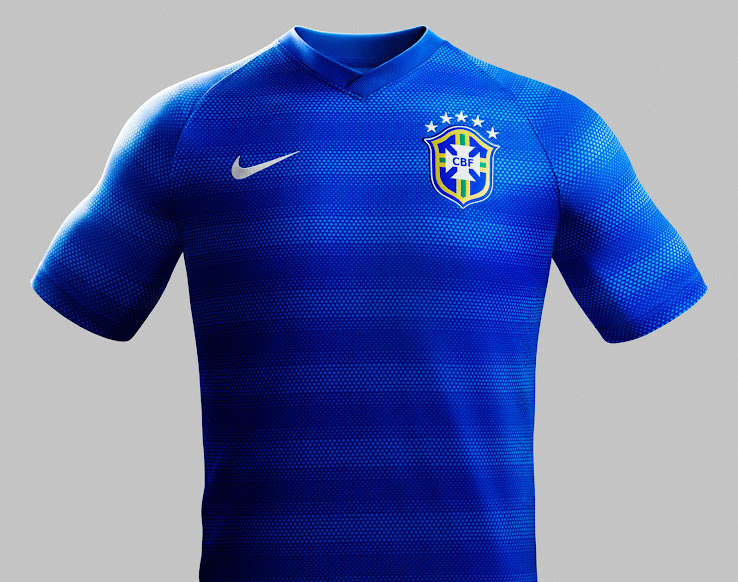 96e119b7f07 Brazil 2014 World Cup Home and Away Kits Released - Footy Headlines