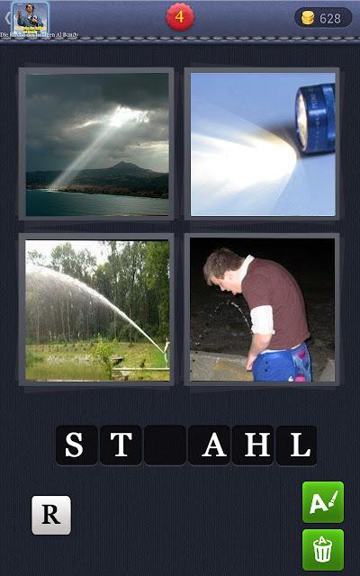 4 Wörter 1 Bild lustig - Strahl