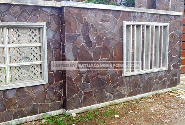 pagar batu alam templek purwakarta